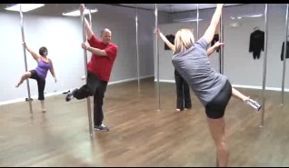 Tony Tries Pole Dancing with Miss Pole