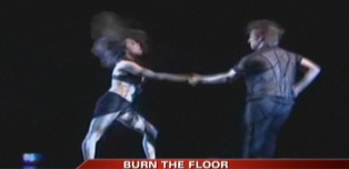 Burn the floor: Dancing here in studio!