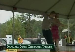 """Dancing with the Stars"" Derek Hough Celebrates Tanger"