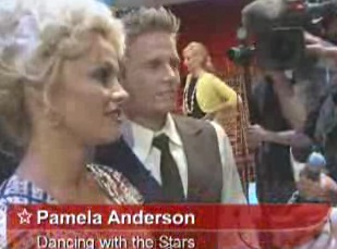 "Pamela dons dancing shoes for ""Dancing with the Stars"""