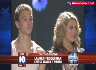 "Phoenix Teen Lauren Froderman Wins FOX ""So you think you can Dance"" Show"