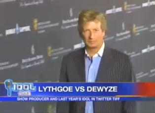 """Lythgoe vs last years """"American Idol"""" winner Dewyze on Twitter"""