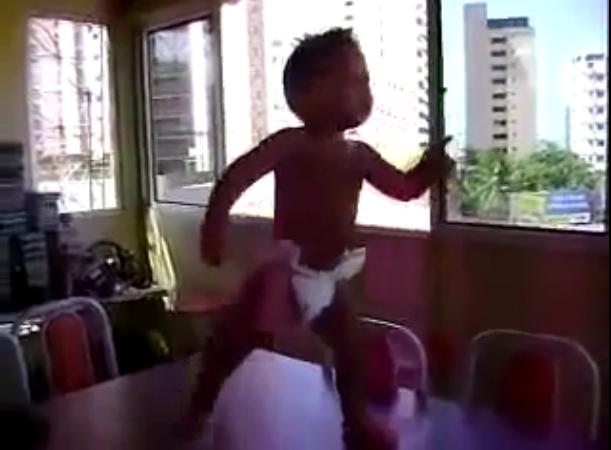 Dancing Baby Doing the Samba (Merengue) in Brazil