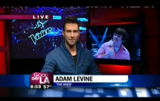 """Adam Levine Dishes on """"The Voice"""""""