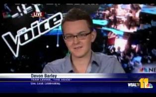 "Devon Barley Talks ""The Voice"" With Sarah"