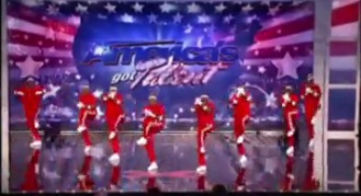 Dancing to Justin Bieber song on AMERICA'S GOT TALENT