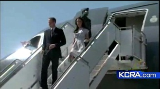 Prince William, Kate Arrive In California