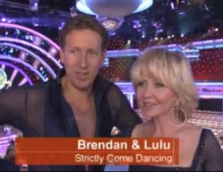 "British star Lulu shocked to get Brendan on ""Strictly Come Dancing"" UK's ""Dancing with the Stars"""
