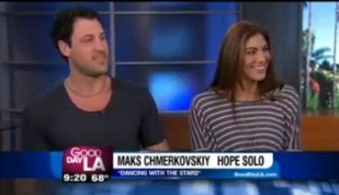 "Hope Solo and Maks Talk ""Dancing With The Stars"""