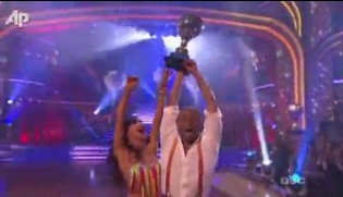 "Martinez Wins the ""Dancing with the Stars"" Mirrorball"