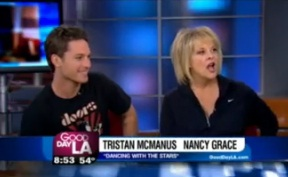 """Dancing with the Stars"" Nancy Grace & Tristan MacManus on GDLA"