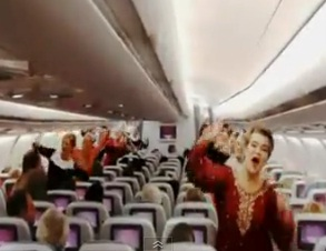 Finnair passengers treated with Bollywood live dance