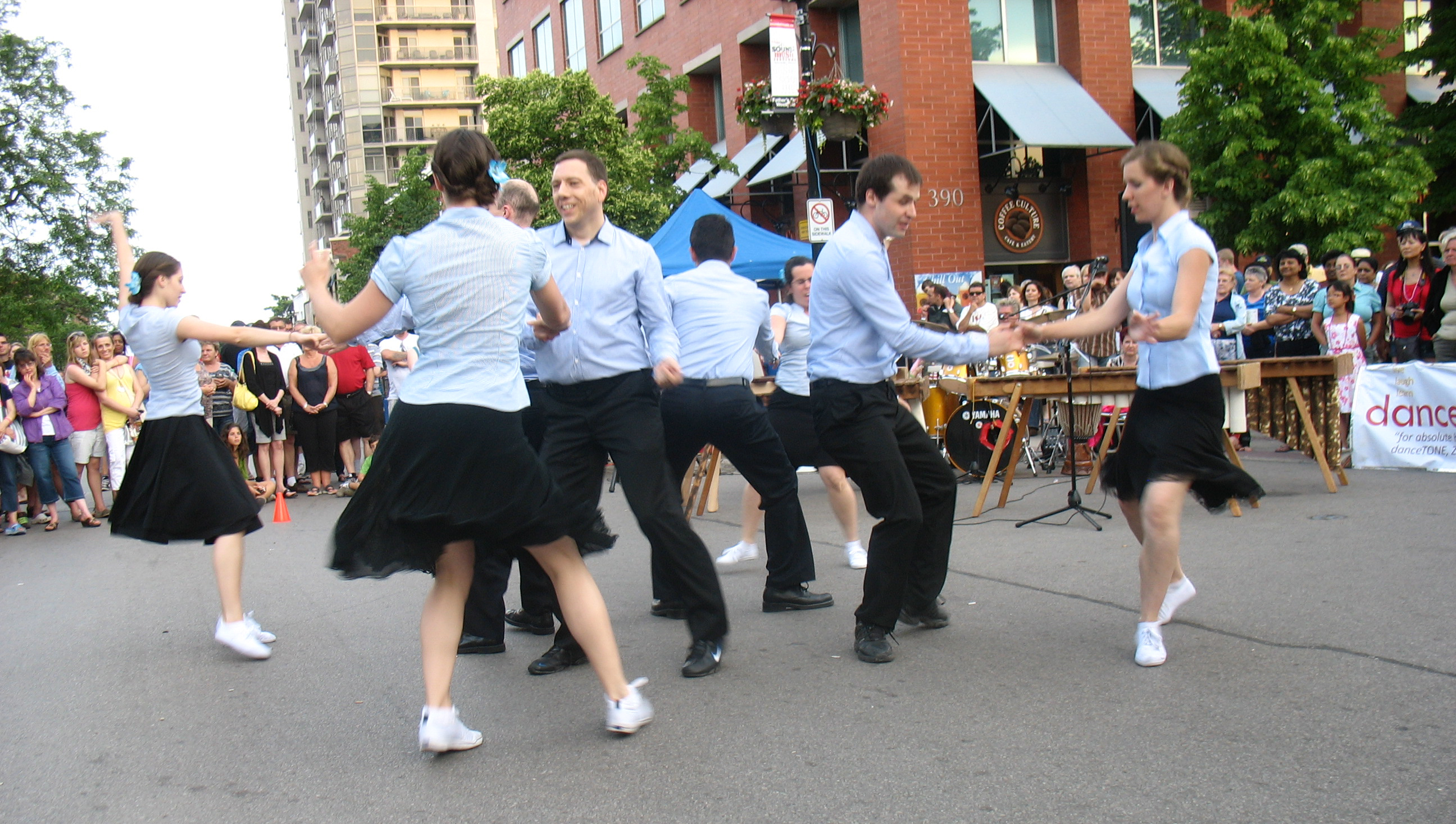 danceScape @ Burlington Sound of Music Festival – Hammer Hoppers Lindy Hop Full Demos (Saturday)