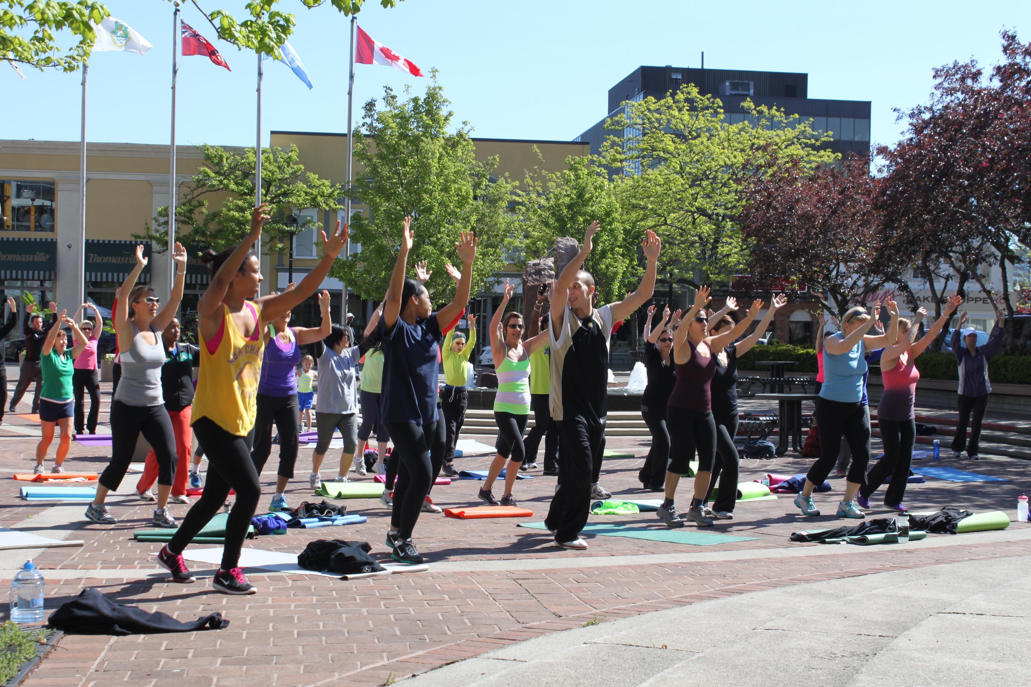 danceScape at Fit in the Core, Downtown Burlington, Ontario